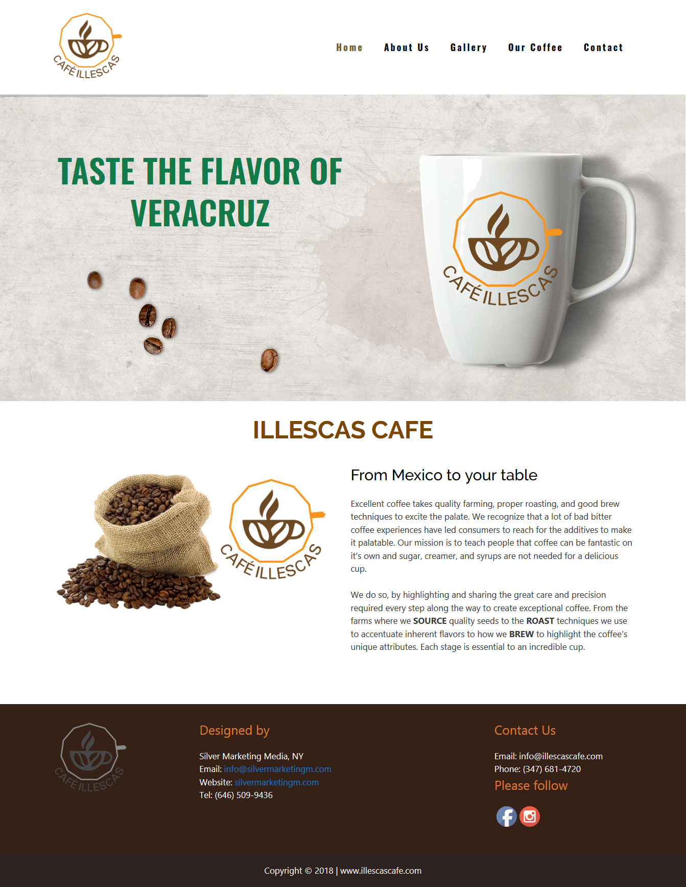 Illescas Caffe Web Design